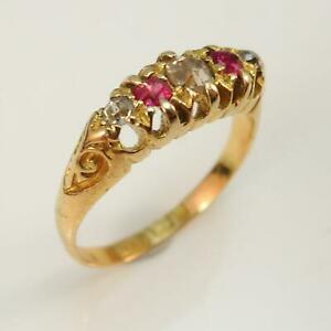 Victorian-1898-18ct-Ruby-and-Diamond-Ring