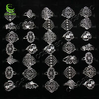 10pcs Wholesale Jewelry Lots Mixed Style Tibet Silver Vintage Rings Free Ship