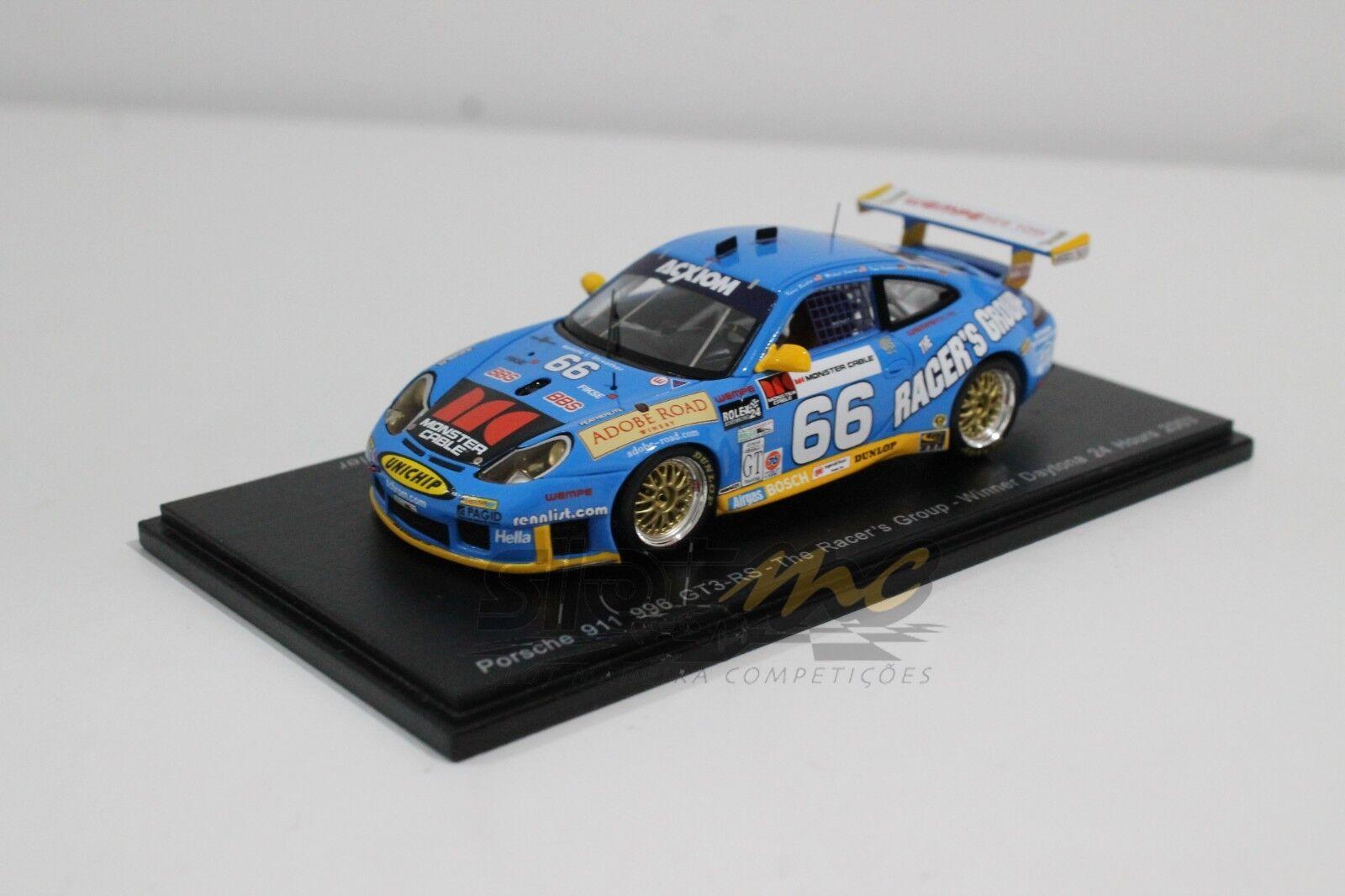 SPARK 43DA03 Porsche 911 996 GT3-RS-The Racer's Group-Winner 1 43  NEW