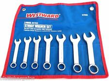 7pc Westward Metric Stubby Combination Wrench Set 1eyd6 10mm 19mm