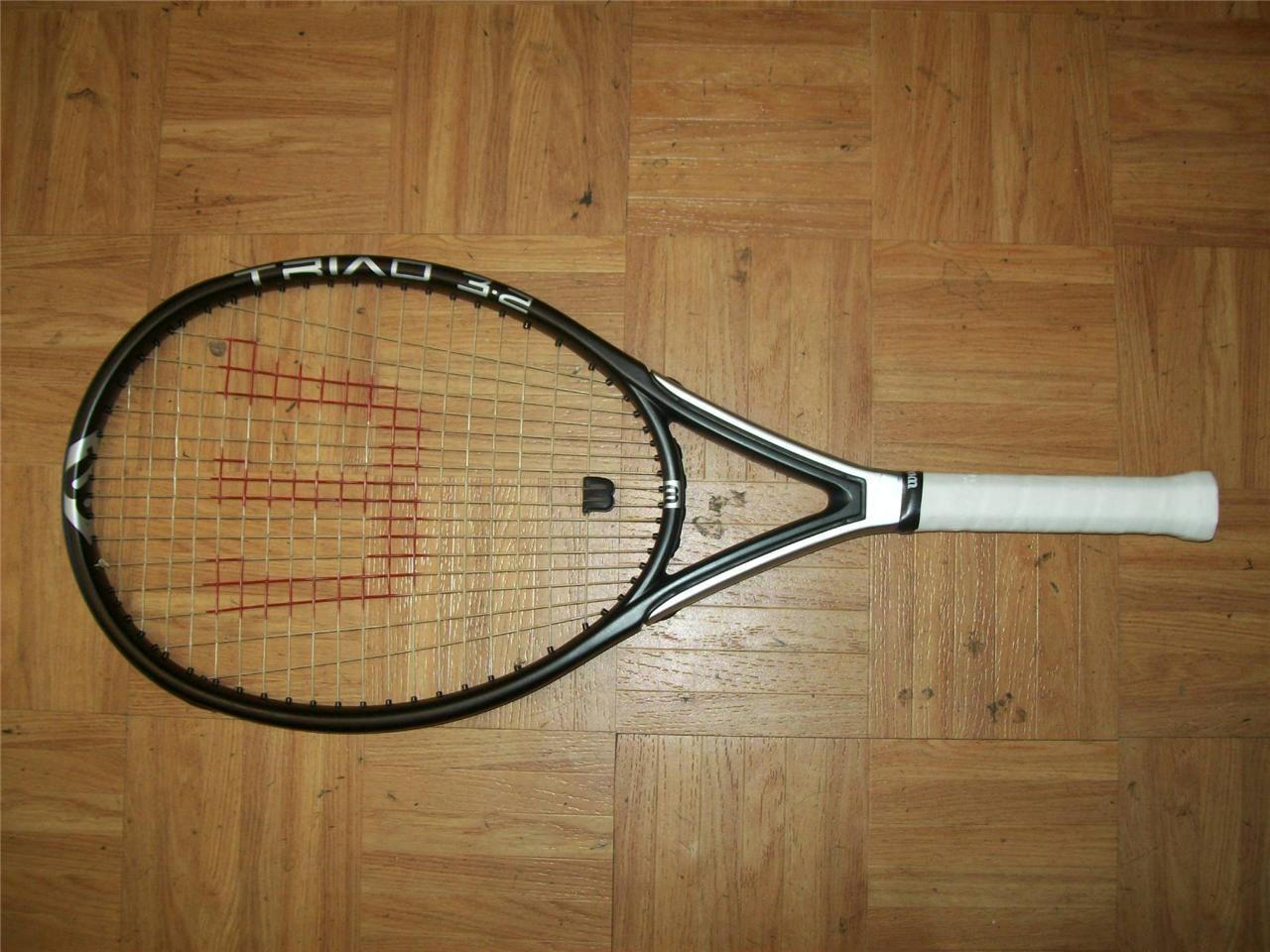Wilson Triad Martillo  3.2 OverTalla 115 4 1 2 Grip Tenis Raqueta  connotación de lujo discreta