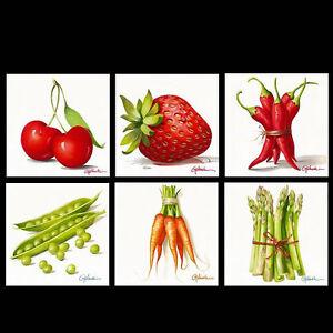 Paolo golinelli verdure quadri in plexiglas 30x30 cucina sala da pranzo ebay - Quadri per sala da pranzo ...
