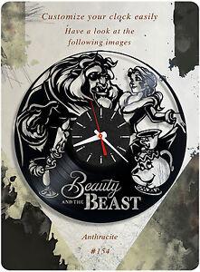 Image Is Loading Beauty And The Beast Vinyl Clock Disney Wall