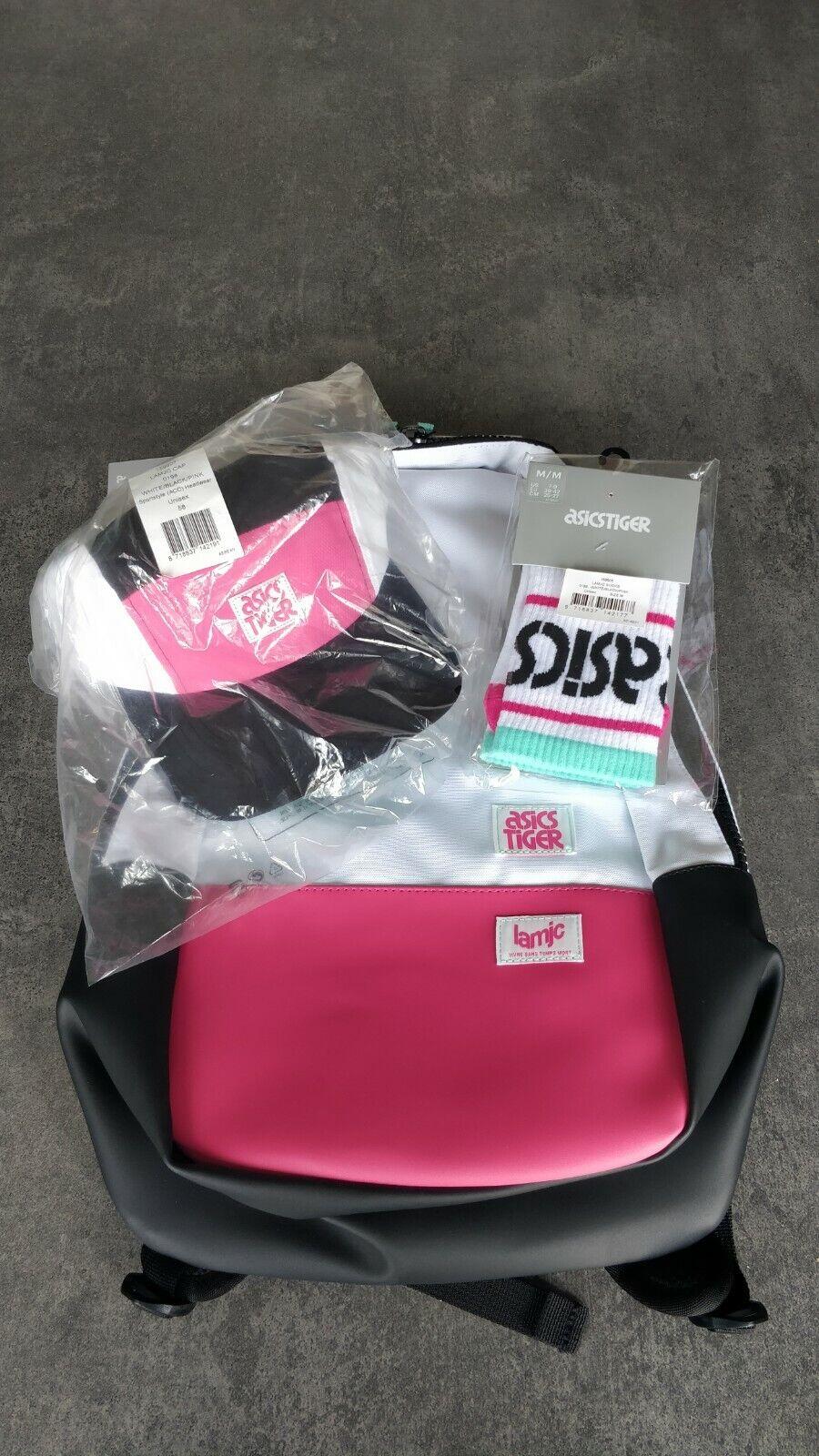 ASICS x Colette + La MJC Sold Out Pack. Backpack, Socks & Cap.