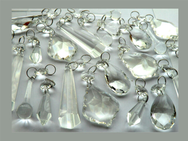 Kristall Perlen Kronleuchter ~ Kristalle tropfen perlen kronleuchter transparentes glas ebay