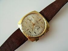 GENT'S VINTAGE GOLD PLATED BREITLING TOP TIME CHRONOGRAPH WRIST WATCH