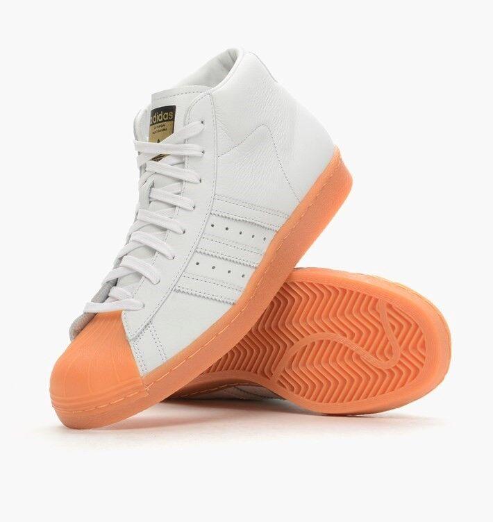 ADIDAS Originals Pro modello Superstar Toe da Uomo MID/HIGH TOP Scarpe da ginnastica White Scarpe classiche da uomo