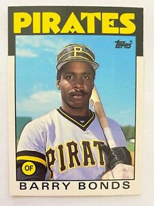 1986 Topps Traded BARRY BONDS Rookie, #11T, Pirates RC GOAT!      QTY. Available