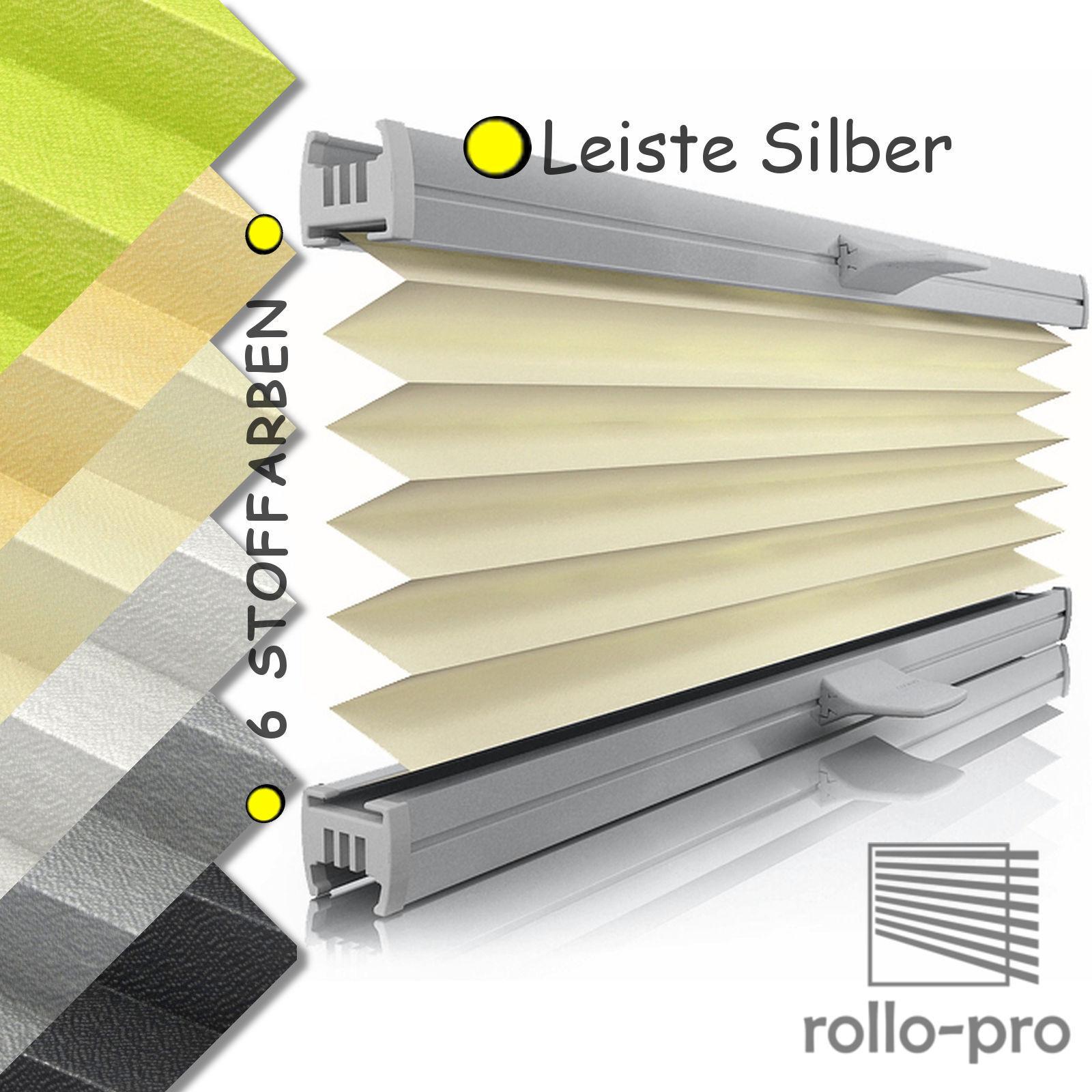 Plissee Faltrollo nach Maß Plissee OFFICE Profil Silber ▻Rollos ...