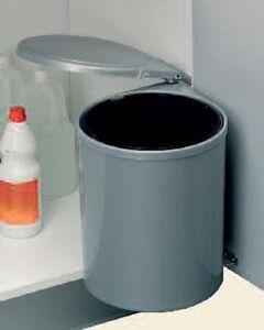 WESCO Einbau Abfallsammler, Rondo 5, grau, 13 Liter, Küchen ...