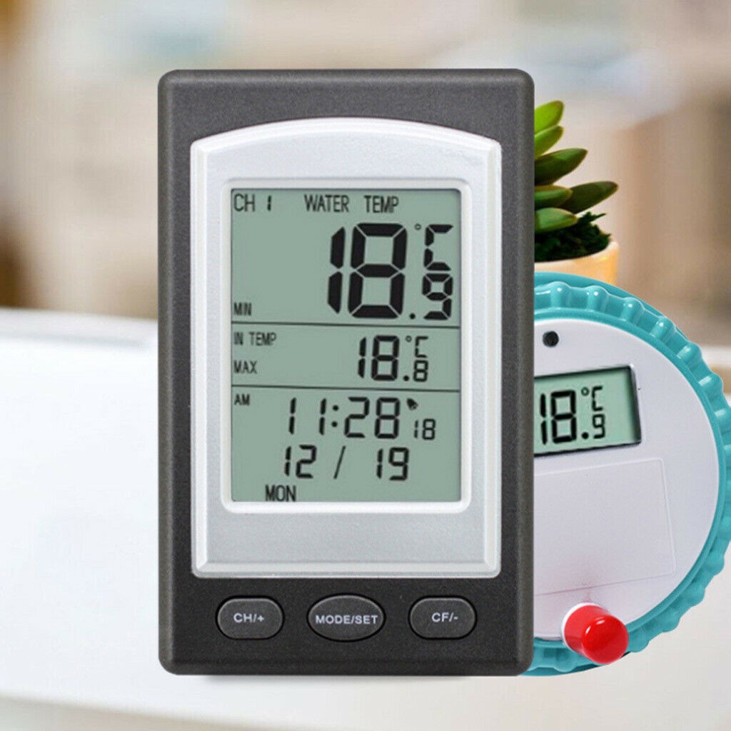 Wireless Digital Floating Swimming Pool Thermometer Bath Temperature Remote