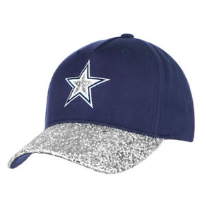 Gorgeous-Dallas-Cowboys-Womens-Roxy-Sparkle-Glitter-Bling-Game-Day-Hat-Cap