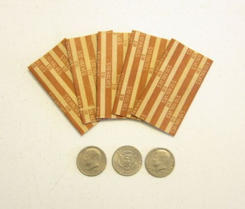 25  PAPER COIN WRAPPERS FOR HALF DOLLAR COINS 50 CENT PIECES HALVES WRAPPER