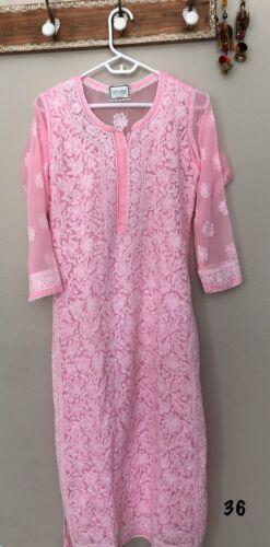 New Trendy Chikankari handwork Kurta Kaftan with inner fancy Kurti summer outfit