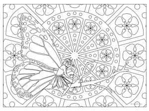 Details about Giant Coloring Poster - Fairy (32\