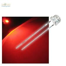 50 LEDs 4,8mm ROT, breit abstrahlend LED Strawhead rojo rood red rouge rosso + R