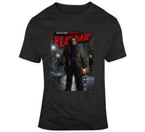 Horror Speel Chucky Jason Parodie shirt Friday Grappige T Fan Spoof Date jRq3L5A4