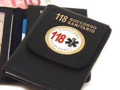 Portafoglio Vega cuoio 1WD38 soccorso sanitario pubblica assistenza emergency