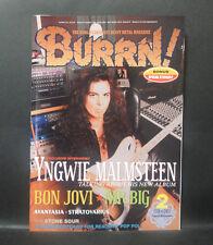 Japan 『BURRN! Feb./2011』 YNGWIE MALMSTEEN BON JOVI MR.BIG AVANTASIA w/sticker