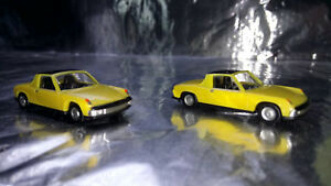 Herpa-451611Y-VW-Porsche-914-yellow-2-Car-Pack-1-87-HO-Scale