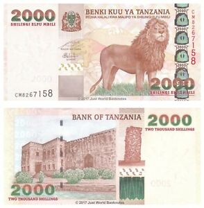 Tanzania-2000-chelines-ND-2003-P-37a-Billetes-Unc