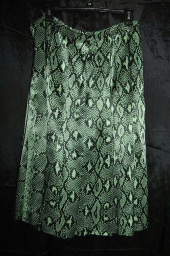 realizzata con colore verde rara Python Francia a in nero Chloe serpente Gonna pieghe stampa qPxZnE1