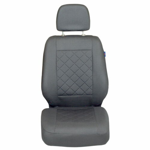 Grauer Gepresster Karomuster Sitzbezug Mercedes Vito Cargo Vorne Fahrersitz