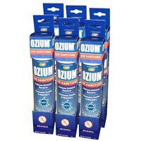 (6) Ozium Air Sanitizers 3.5 Oz Kills Bacteria & Removes Smoke (original Scent)