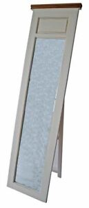 Dettagli su Specchio da terra bagno arredo casa camera da letto ingresso  legno bianco H187