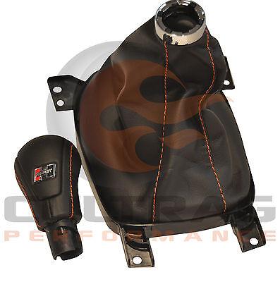 2012-2015 Camaro Genuine GM Manual Leather Shift Boot Inferno Orange Stitching