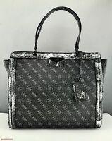 Limited Pristine Handbag Guess Taree Onyx Lg Satchel Bag Ladies Authentic