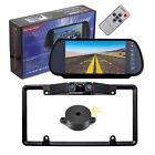 "7"" Car Rear View Mirror Monitor with clip+Parking Radar Sensor Backup Camera Kit"