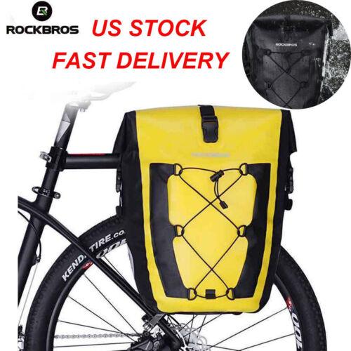 ROCKBROS Bicycle Rear Seat Bag Waterproof Rear Rack Travel Carrier Bag 18//27L US