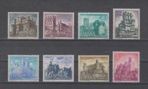 SPAIN-1966-MNH-COMPLETE-SET-SC-SCOTT-1365-72-CASTLES