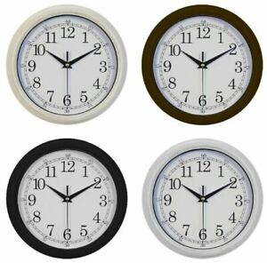 WALL-CLOCK-RUSTIC-STYLE-4-COLOURS-CREAM-BLACK-SILVER-BRONZED-BROWN-HOME-GIFT