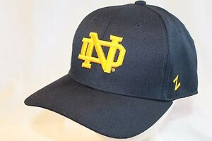 4249b896e9e4c Notre Dame Fighting Irish Hat Cap Navy Gold ND DH Fitted Cap by ...