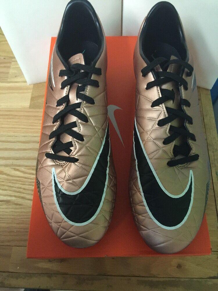Nike HYPERVENOM PHELON II II II FG 749896-903 Mtlc Red Bronze Size 13 SOCCER CLEAT 79035a