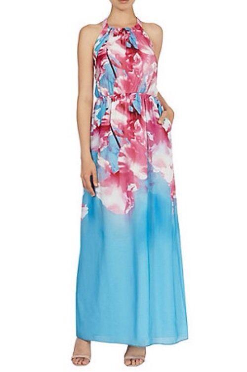 New Coast (Größe ) Cherry Blossom Floral Print Maxi Dress Gorgeous