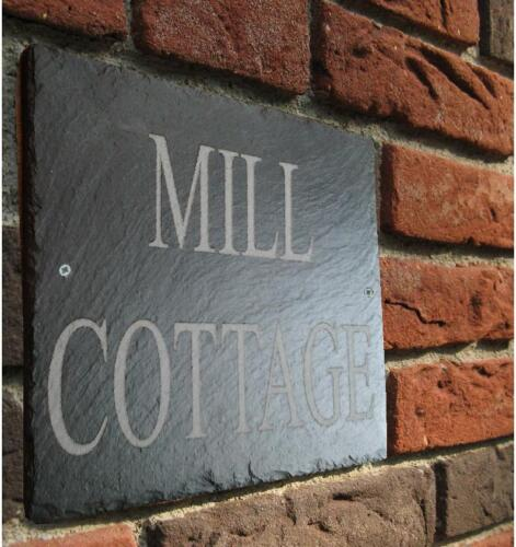 Large Natural Slate House Signs 30cm x 25cm Dark Slate Engraved To Requirments