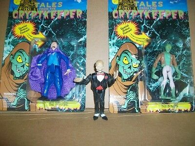VINTAGE ACTION FIGURES  (3)  TALES FROM THE THE THE CRYPTKEEPER, ZOMBIE, VAMPIRE ACE 66248d