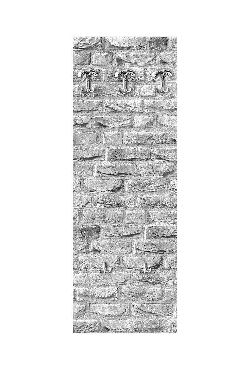 Appendiabiti da parete 49X139 cm Street bianca