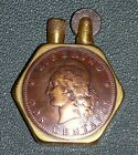 France WW1 Lighter Trench Art Argentinean Coins