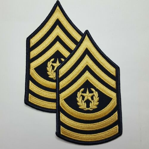 ARMY COMMAND SERGEANT MAJOR E-9 BLUE DRESS UNIFORM RANK AUFNÄHER PAT 1 PAAR U.S