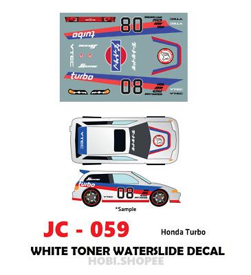 JC-9230 White Toner Waterslide Decals/> SAKURA/_ATT /> For Custom 1:64