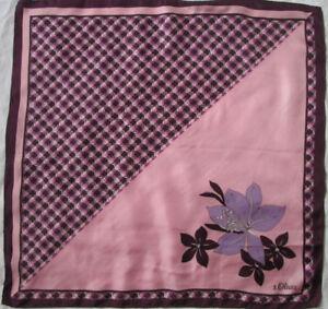 d677a28aa684 Foulard tour de cou S. OLIVER soie TBEG vintage scarf 49 x 51 cm   eBay