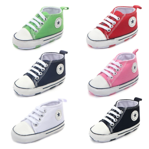 Clothing New Canvas Classic Sports Sneakers Newborn Baby Boys Girls First Walker