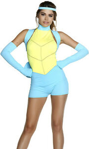 Sexy Forplay Caught Up Pokemon Cartoon Romper Squirtle Costume