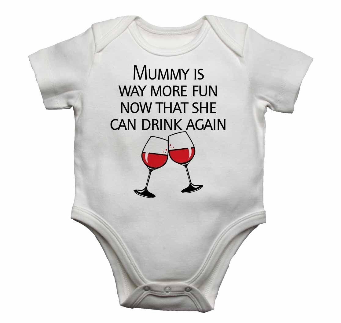Today I/'m Grandma/'s Problem Funny Cute Baby Grow Vest Bodysuit Boys Girls Gift