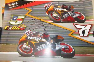 Colin-Edwards-USA-signed-Moto-GP-Poster-unframed-COA-Photo-proof