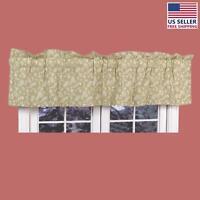 Valances Green Cotton Valance Chantelle 18h X 80w | Renovator's Supply on sale
